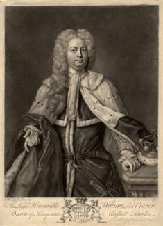 William Craven, 3rd Baron Craven, by John Faber Jr, sold by  George Hopkinson, after  Michael Dahl - NPG D1533