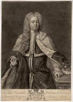 William Craven, 3rd Baron Craven, by John Faber Jr, sold by  George Hopkinson, after  Michael Dahl - NPG D1534