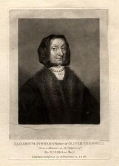 Elizabeth Cromwell (née Steward), by Charles Turner, published by  Samuel Woodburn - NPG D1540