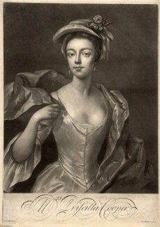 Priscilla Cooper, by Peter Pelham, after  Michael Dahl - NPG D1549