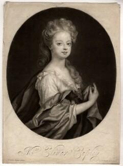 Elinor (Eleanor) Copley, by John Smith, after  Sir Godfrey Kneller, Bt, 1694 - NPG D1550 - © National Portrait Gallery, London