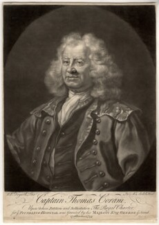Thomas Coram, by James Macardell, after  William Hogarth - NPG D1554