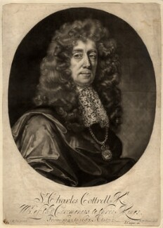 Sir Charles Cotterell, by Robert Williams, after  John Riley - NPG D1562