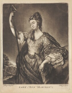 Lady Anne Dawson (née Fermor), by Samuel Okey, after  Sir Joshua Reynolds - NPG D1572
