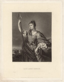 Lady Anne Dawson (née Fermor), by James Scott, published by  Henry Graves & Co, after  Sir Joshua Reynolds - NPG D1574