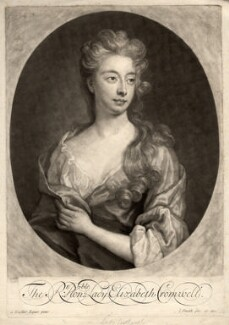 Elizabeth Southwell (née Cromwell), Lady Cromwell, by and published by John Smith, after  Sir Godfrey Kneller, Bt, 1699 - NPG D1582 - © National Portrait Gallery, London