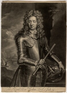 John Cutts, Baron Cutts, by John Simon, after  Sir Godfrey Kneller, Bt - NPG D1614