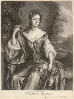 Madam D'Avenant, by John Smith, after  Sir Godfrey Kneller, Bt, 1689 - NPG D1621 - © National Portrait Gallery, London
