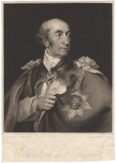 John de Blaquiere, 1st Baron de Blaquiere, by Charles Turner, after  John James Masquerier - NPG D1628