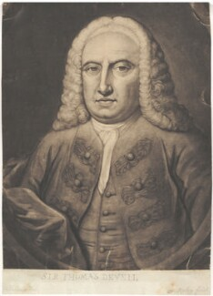 Sir Thomas de Veil, by Thomas Ryley, after  William De La Cour (Delacour) - NPG D1640