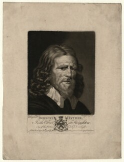 Abraham van der Doort (inscribed 'Dobson's Father'), by Valentine Green, possibly after  William Dobson - NPG D1644