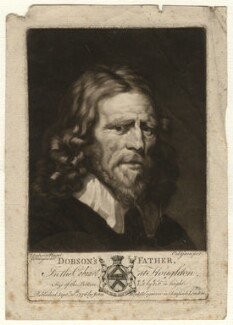 Abraham van der Doort (inscribed 'Dobson's Father'), by Valentine Green, possibly after  William Dobson - NPG D1646