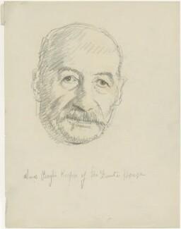 Amos Borghi, by Powys Evans - NPG D1672