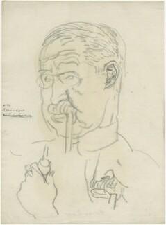 Bonar Law, by Powys Evans, sketch for Quiz cartoon (Eighty eight cartoons, 1926, no. 7) - NPG D1674 - © estate of Powys Evans