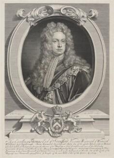 Thomas Wentworth, 1st Earl of Strafford, by George Vertue, after  Sir Godfrey Kneller, Bt - NPG D1709