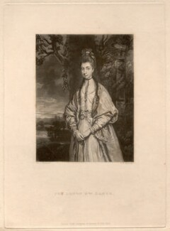 Anne Seymour Damer (née Conway), by Samuel William Reynolds, after  Sir Joshua Reynolds - NPG D1716