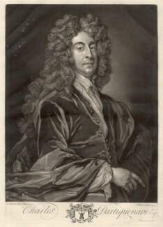Charles Dartiquenave, by John Faber Jr, after  Sir Godfrey Kneller, Bt - NPG D1720