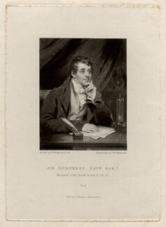 Sir Humphry Davy, Bt, by Samuel William Reynolds, after  Thomas Phillips - NPG D1731