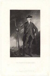 Sir Francis Blake Delaval, by Robert Bowyer Parkes, after  Sir Joshua Reynolds - NPG D1735