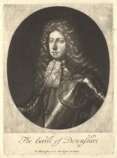 William Cavendish, 1st Duke of Devonshire, by Pieter Schenck, after  Sir Godfrey Kneller, Bt - NPG D1748