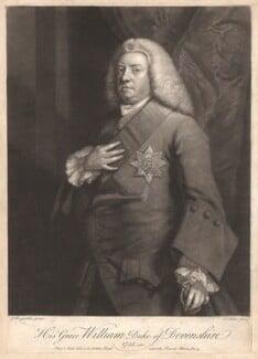 William Cavendish, 3rd Duke of Devonshire, by John Faber Jr, after  Sir Joshua Reynolds - NPG D1749