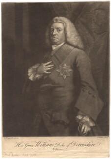 William Cavendish, 3rd Duke of Devonshire, by John Faber Jr, after  Sir Joshua Reynolds - NPG D1750