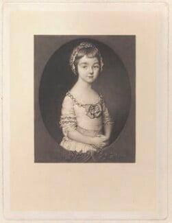 Georgiana Cavendish (née Spencer), Duchess of Devonshire, by Richard Josey, after  Thomas Gainsborough - NPG D1754
