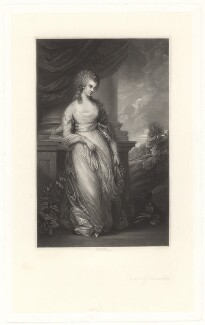 Georgiana Cavendish (née Spencer), Duchess of Devonshire, by Robert Bowyer Parkes, after  Thomas Gainsborough - NPG D1755