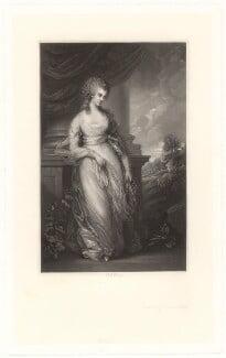 Georgiana Cavendish (née Spencer), Duchess of Devonshire, by Robert Bowyer Parkes, after  Thomas Gainsborough - NPG D1755
