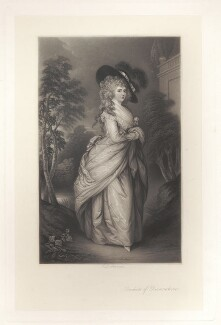 Georgiana Cavendish (née Spencer), Duchess of Devonshire, by Thomas Lewis Atkinson, after  Thomas Gainsborough - NPG D1756