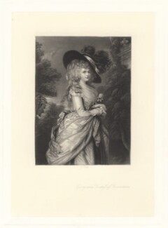 Georgiana Cavendish (née Spencer), Duchess of Devonshire, by James Scott, after  Thomas Gainsborough - NPG D1757