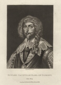 Edward Sackville, 4th Earl of Dorset, by Robert Dunkarton, after  Sir Anthony van Dyck - NPG D1772