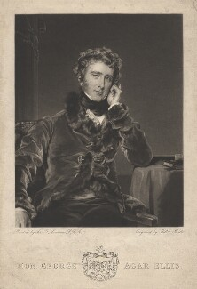 George Agar-Ellis, 1st Baron Dover, by William Brett, after  Sir Thomas Lawrence - NPG D1782