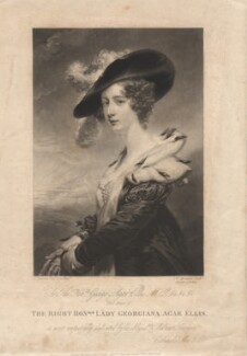 Georgiana (Howard), Lady Dover, by Samuel William Reynolds, after  John Jackson - NPG D1785