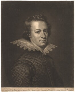 William Drummond of Hawthornden, by John Finlayson, after  Abraham van Blyenberch - NPG D1798