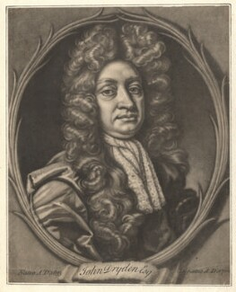 John Dryden, by Francis Kyte, after  John Closterman - NPG D1801