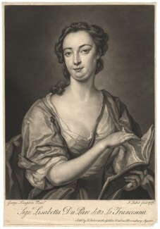 Lisabetta Du Parc ('La Francesina'), by and sold by John Faber Jr, after  George Knapton - NPG D1810