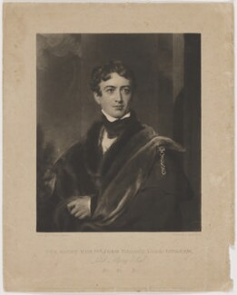 John George Lambton, 1st Earl of Durham, by Charles Turner, after  Sir Thomas Lawrence - NPG D1815