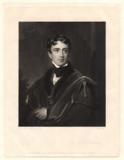 John George Lambton, 1st Earl of Durham, by Charles Edward Wagstaff, published by  Hodgson & Graves, after  Sir Thomas Lawrence - NPG D1816