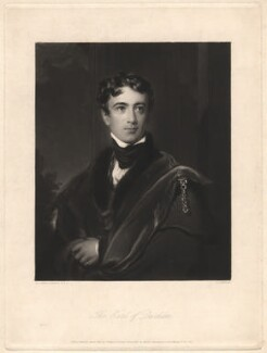 John George Lambton, 1st Earl of Durham, by Charles Edward Wagstaff, published by  Hodgson & Graves, after  Sir Thomas Lawrence - NPG D1817