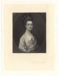 Possibly Elizabeth Egerton (née Churchill), Countess of Bridgewater or possibly Rachael Egerton (née Russell), Countess of Bridgewater, by James Scott, after  Thomas Gainsborough - NPG D1847