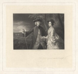 John Perceval, 2nd Earl of Egmont; Catherine Perceval (née Cecil), Countess of Egmont, by Richard Josey, after  Sir Joshua Reynolds - NPG D1855