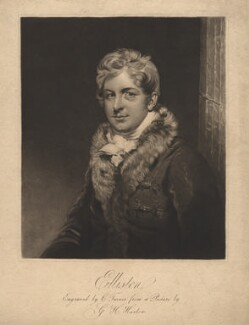Robert William Elliston, by Charles Turner, after  George Henry Harlow - NPG D1856