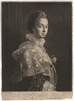 Janet (née Wedderburn), Lady Erskine, by John Johnson, after  Allan Ramsay - NPG D1865