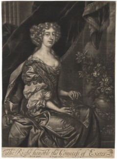 Anne Cecil (née Cavendish), Countess of Exeter, published by Richard Tompson, after  Sir Peter Lely, 1678-1679 - NPG  - © National Portrait Gallery, London
