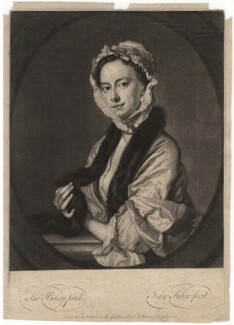 Mrs Faber, by John Faber Jr, after  Thomas Hudson - NPG D1896
