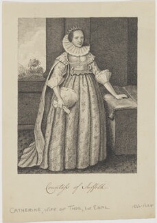 Possibly Katherine Howard (née Knyvett), Countess of Suffolk, possibly after Daniel Mytens - NPG D19