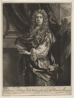 Robert ('Beau') Feilding, by Jan van der Vaart, published by  Richard Tompson, after  Sir Peter Lely - NPG D1905