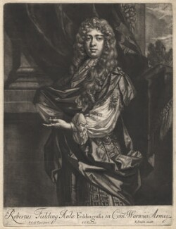 Robert ('Beau') Feilding, by Jan van der Vaart, published by  Richard Tompson, after  Sir Peter Lely, 1678-1679 - NPG  - © National Portrait Gallery, London