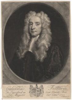 William Fellowes, by John Smith, after  John Vanderbank - NPG D1912